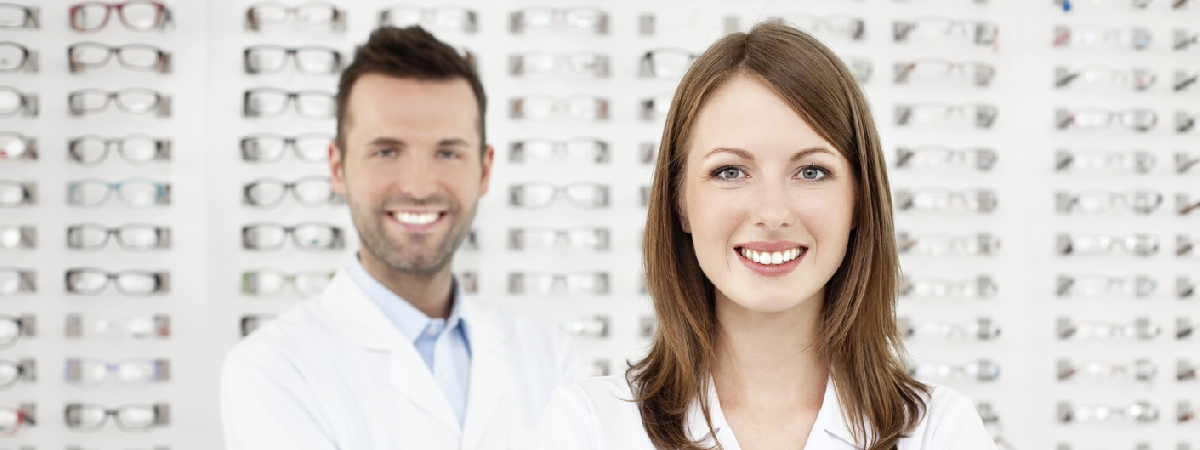 picture of opticians in a dispensary
