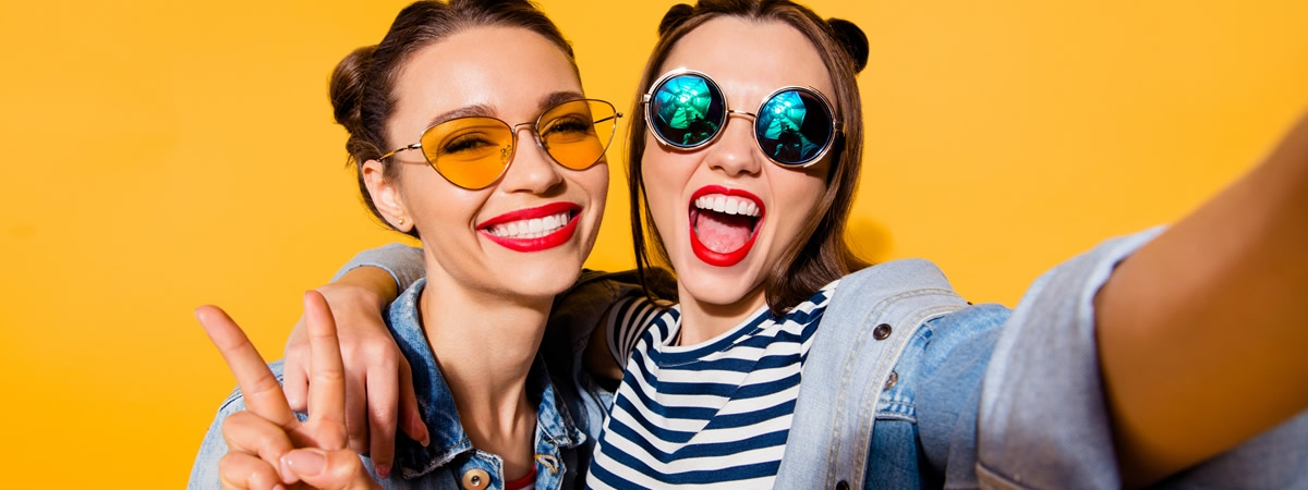 picture of women in sunglasses