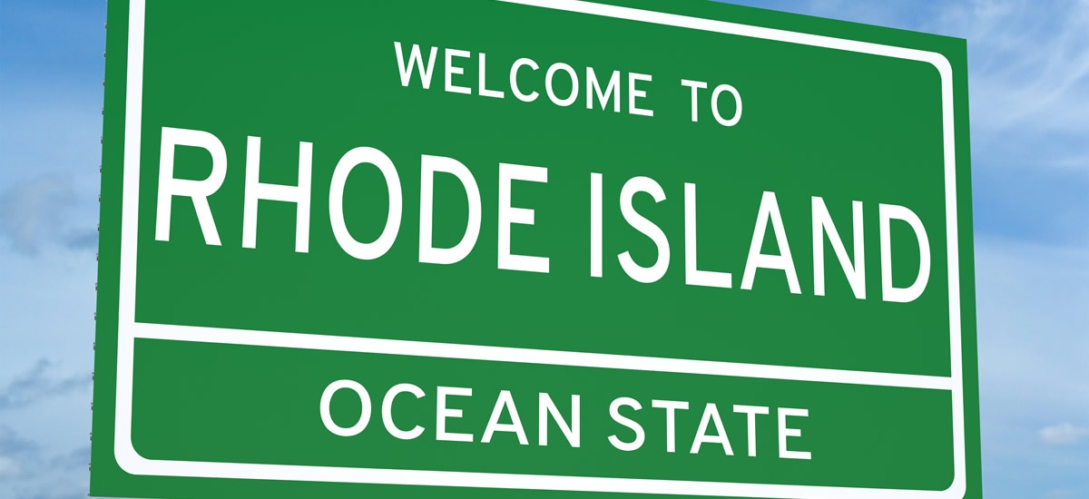 Picture of Welcome to Rhode Island sign